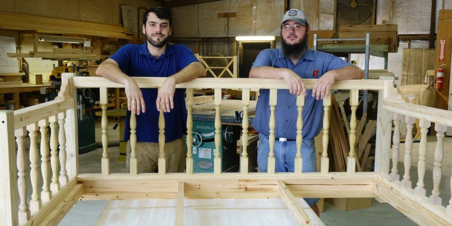 Big, comfy swings aren't the only item made by Montgomery's Four Oak Designs, but they're the company's biggest seller. (Mark Sandlin/Alabama NewsCenter)