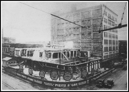 The Pizitz during its original construction. (contributed)