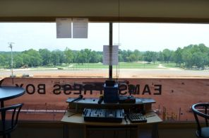 EAMS press box (Anne Kristoff/Alabama NewsCenter)