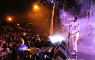 Sway to Latino rhythms at Fiesta's big stage. (NewsCenter images)