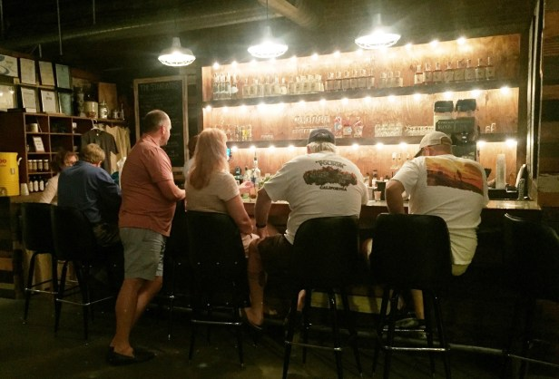 The tasting room at John Emerald Distilling Co. serves all of the distillery's spirits. It was recently named one of the South's best bars by Southern Living. (Brittany Faush-Johnson / Alabama NewsCenter)