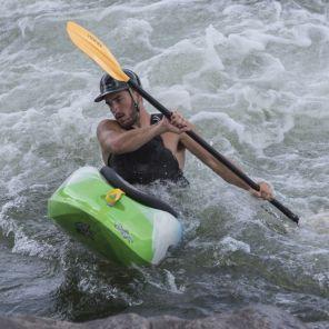 A kayaker navigates the Chattahoochee River in Phenix City, Al. (Bernard Troncale/Alabama NewsCenter)