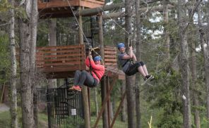 Zip liners in Phenix City, Al. (Bernard Troncale/Alabama NewsCenter)