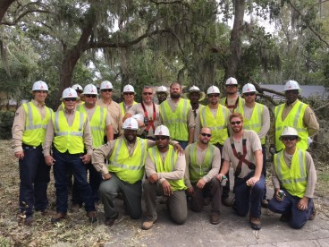 Alabama Power crew pose for photo after restoring power in Georgia. (Photo courtesy of Alabama Power.)