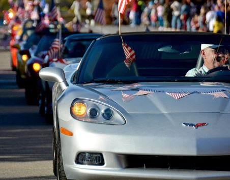 Local Corvette Club attends the Birmingham Veterans Day Parade, Nov. 11, 2013. (U.S. Air National Guard photo by SMSgt. Ken Johnson/117th Air Refueling Wing)