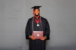 Jonathan Allen was among more than 30 student-athletes who graduated from the University of Alabama on Saturday (Shelby Akin/UA Athletics)