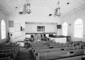 The sanctuary of Bethel Baptist Church. (Jet Lowe/Library of Congress)