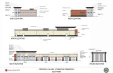 Designs for the Starbucks at CrossPlex Village. (Davis Architects)