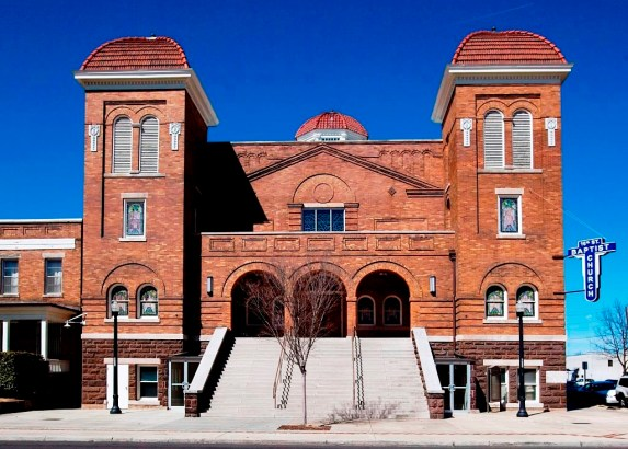 Birmingham's 16th Street Baptist Church, one of the nation's foremost civil rights landmarks, could soon be part of a National Historical Park. (Carol Highsmith/Library of Congress)