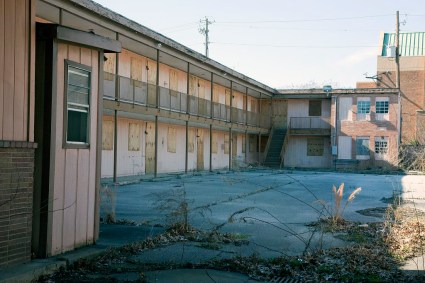 The A.G. Gaston Motel, badly in need of restoration. (Carol Highsmith/Library of Congress)