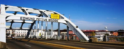 Edmund Pettus Bridge with Selma in the background. (Erin Harney / Alabama NewsCenter)