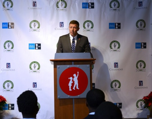 Craig Sorensen, managing director of SouthWest Water Co.'s Alabama headquarters, the primary sponsor of the Birdies for Charity program. (Michael Tomberlin / Alabama NewsCenter)