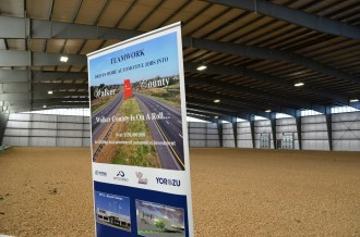 Officials held an open house for the new spec building in the Jasper Industrial Park. (Michael Tomberlin / Alabama NewsCenter)