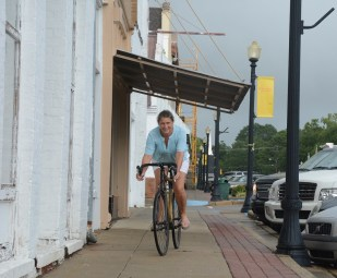 Pam Dorr came to Greensboro in 2003, fell in love with the town and stayed. Now she's working to reduce poverty in the area through HERObike. (Karim Shamsi-Basha/Alabama NewsCenter)