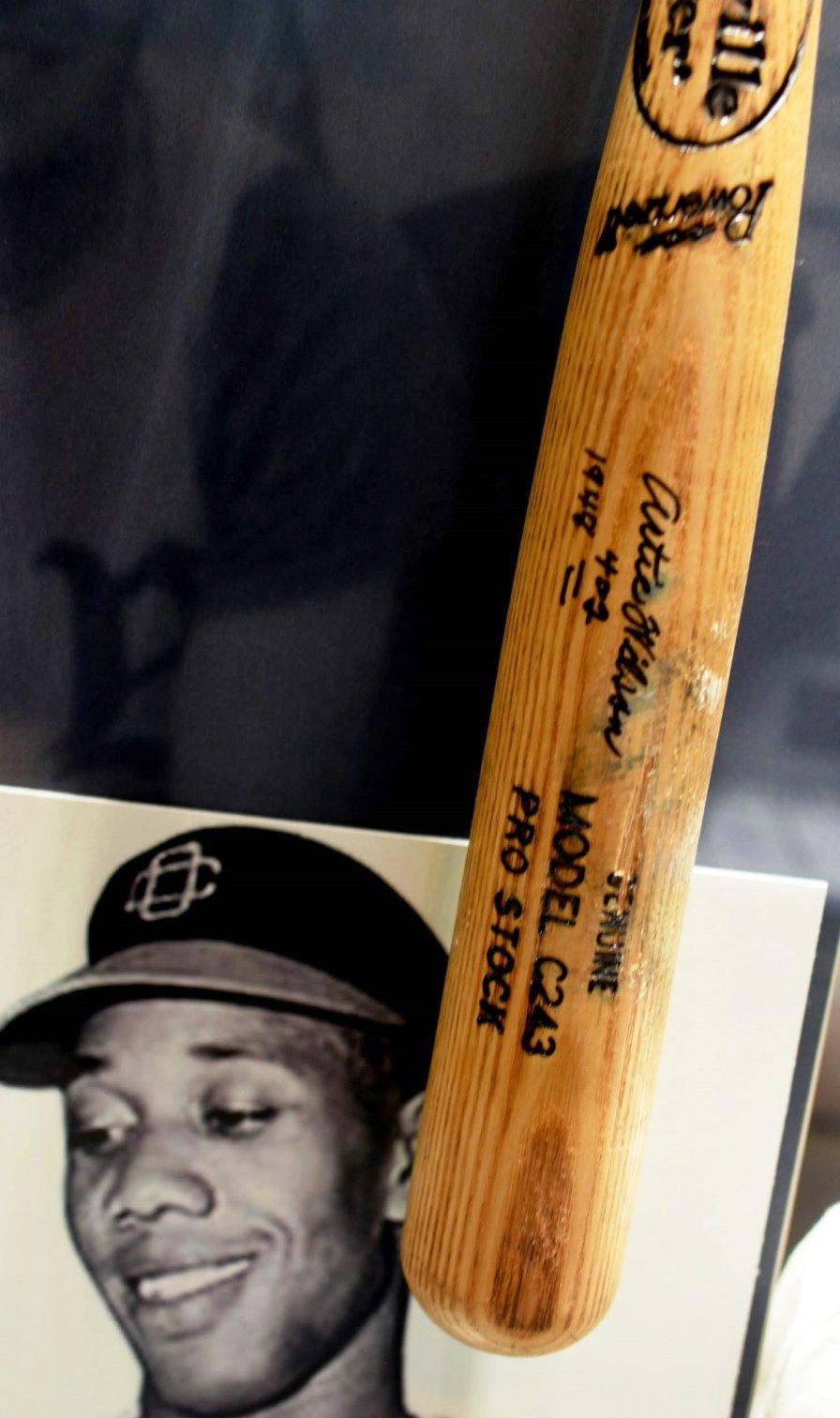 Artie Wilson figures prominently in the Negro Southern League Museum in Birmingham. (Solomon Crenshaw Jr. / Alabama NewsCenter)