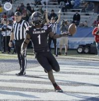 South Carolina receiver Deebo Samuel captured Birmingham Bowl records. (Allen Sharpe/USC)