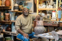 Charles Smith has built an impressive reputation as a potter over the past 40 years. (Mark Sandlin/Alabama NewsCenter)