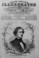 Portrait of Jefferson Davis, President of the Confederacy, 1861. Portrait was an illustration in Frank Leslie's illustrated newspaper, v. 11, no. 276. (Library of Congress Prints and Photographs Division)