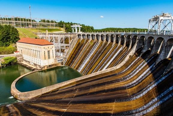Alabama Power's Martin Dam. (Nik Layman / Alabama NewsCenter)