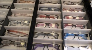 The Alabama Lions' Mobile Eye and Vision Clinic is stocked with eyeglasses for people in the communities it visits. (Michael Tomberlin/Alabama NewsCenter)