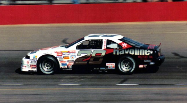 Davey Allison races. His relatively short but memorable career included a final triumph at Talladega in 1992. (contributed)