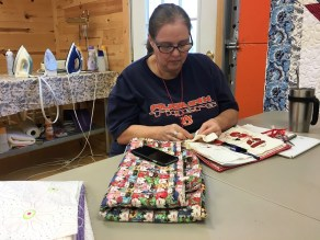 Quilters love to spend time at Ashville House. (Brittany Faush-Johnson/Alabama NewsCenter)
