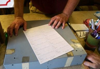 A seller form. (Anne Kristoff/Alabama NewsCenter)