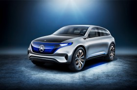 Mercedes-Benz has unveiled a number of electric and hybrid vechiles, like the Generation EQ which it unveiled at the Paris Auto Show in September. (Mercedes)