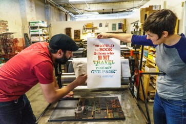 Martin Blanco and Rachel Lackey of Green Pea Press provide an attention to detail as an Alabama maker. (Mark Sandlin / Alabama NewsCenter)
