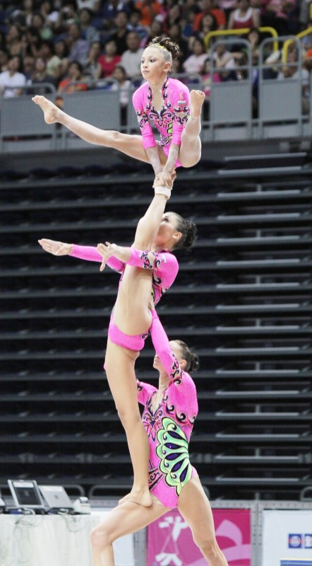 Acrobatic gymnastics is one of the sports played in previous World Games. (contributed)