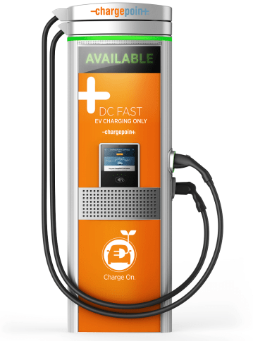 A ChargePoint Express Station. Several major auto companies are investing in ChargePoint to make electric auto charging stations much more common across Europe. (ChargePoint)
