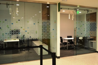 Conference rooms are available for customers who want to have a private meeting with universal bankers at the Regions branch. (Michael Tomberlin / Alabama NewsCenter)