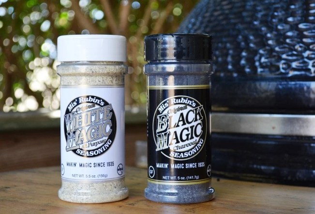 White Magic and Black Magic are the premier seasonings at Mis' Rubin's, but more are planned. (Michael Tomberlin / Alabama NewsCenter)