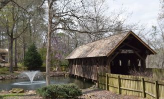 The covered bridge is 118 years old. (Donna Cope / Alabama NewsCenter)