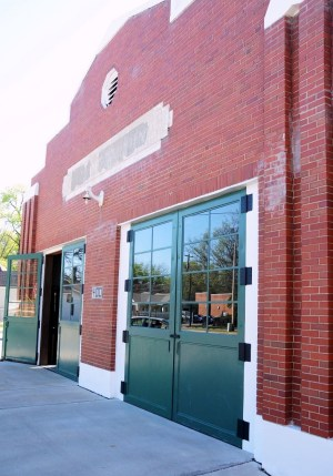 An old firehouse in Montgomery is home to Re-Invention. (Karim Shamsi-Basha/Alabama NewsCenter)