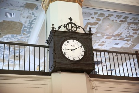 The restored clock that was uncovered during the Pizitz renovation. (contributed)