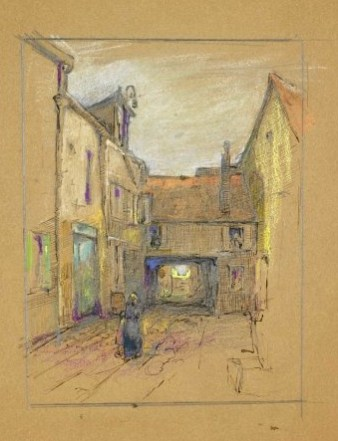 Untitled (European Village Street Scene) by Clara Weaver Parrish. (Birmingham Museum of Art, Altairisfar, Wikimedia)