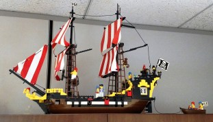 This Lego pirate ship, which Higgins found in a thrift store, rekindled his passion for Legos after years away from the hobby. (Wesley Higgins)