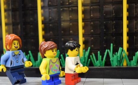 Lego citizens enjoy the McWane Science Center. (Wesley Higgins)