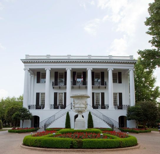 The President's Mansion is one of the few buildings that survived the burning of the University of Alabama campus in 1865. (The George F. Landegger Collection of Alabama Photographs in Carol M. Highsmith's America, Library of Congress, Prints and Photographs Division)