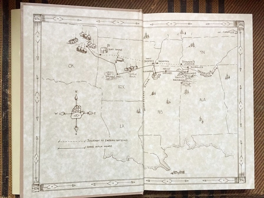 Alabama artist Ree Shannon created this map showing Te-lah-nay's route back to Alabama. (contributed)