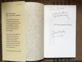 The author of the books signed a copy to the author of this article before he died. (Anne Kristoff / Alabama NewsCenter)