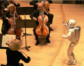 ASIMO conducting the Detroit Symphony Orchestra. (Honda)