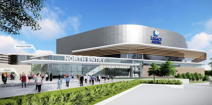 Proposed renovations to the BJCC's northern entrance. (Populous)