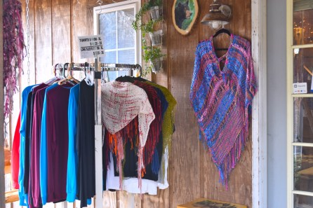 Creating shawls and tunics on a loom is a source of peace for Silvia Costantino, and she picked a peaceful place to do it: Mentone, in the Alabama mountains. (Karim Shamsi-Basha/Alabama NewsCenter)