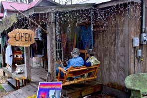 Silvia Costantino shares her shop in Mentone with partner Jeff Rymer, a furniture maker. (Karim Shamsi-Basha/Alabama NewsCenter)
