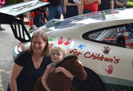 The Racing for Children's Indy Car makes its debut in advance of this weekend's Honda Indy Grand Prix. (Michael Tomberlin/Alabama NewsCenter)
