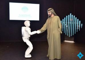 ASIMO receives a royal welcome in Dubai. (Honda)
