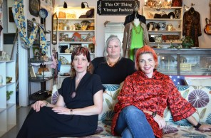 Sylvia Parker, Lori Watts and Jamie Cicatiello are serious about vintage. (Anne Kristoff / Alabama NewsCenter)