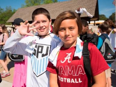Birmingham-area third through fifth graders attend the Regions Junior Clinic before this week's Regions Tradition golf tournament. (Christopher Jones/Alabama NewsCenter)